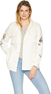 Levi's Women's Floral Embroidered Cotton Shirt Jacket