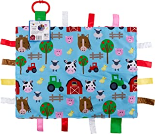 Educational Learning Lovey Ribbon Tag Security Blankets (Farm)