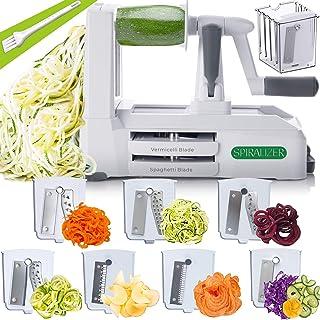 Spiralizer 5-Blade Vegetable Slicer, Strongest-and-Heaviest Duty, Best Veggie Pasta & Spaghetti Maker for Low Carb/Paleo/G...