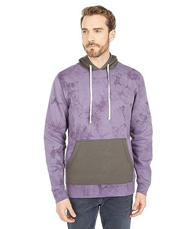 Billabong Wave Washed Blocked Pullover Hoodie (Purple Haze) Men