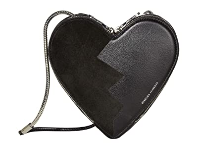 Rebecca Minkoff Heart Crossbody (Black/Black) Cross Body Handbags