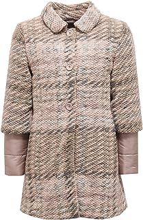 Herno 6126X Cappotto Bimba Girl Piumino Wool Jacket Pink/Light Grey/Beige