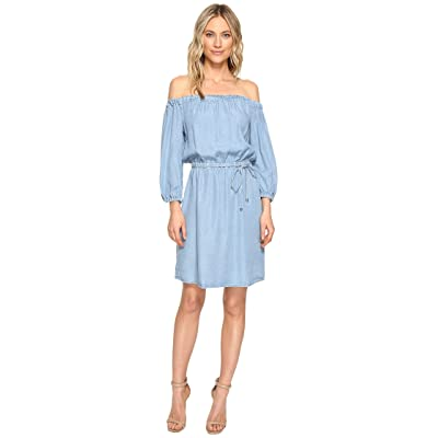 Splendid Off Shoulder Dress (Light Wash) Women