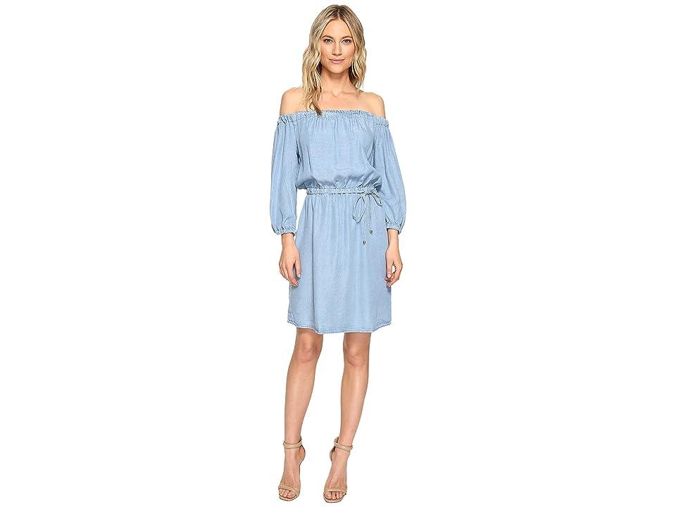 Splendid Off Shoulder Dress (Light Wash) Women