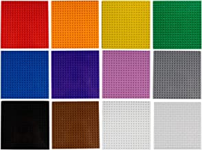 """Imex 12 Pack 6"""" x 6"""" Multi-Color Building Brick Baseplates (20x20 Stud) 100% Compatible with All..."""
