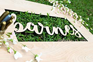 Wedding Guest Book Alternative Personalized - Laser Cut your Names and dates on wood! - Hang This in your House After the Wedding to Remember All the Guests - USA Crafted Wedding Guestbook Alternative