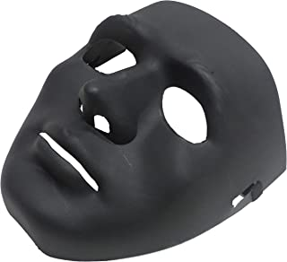 The Halloween mask is a black color