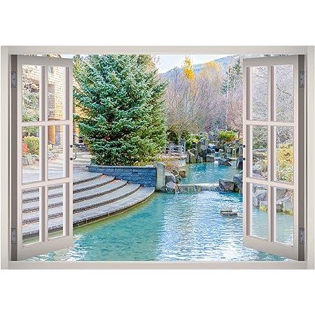 dise/ño de p/ájaro Adhesivo decorativo para ventana Wimaha Graz Design 30 x 40 cm