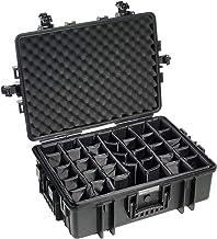 B&W Outdoor Case Hard Case Case Type 6500 met vakindeling, aanpasbaar (hardcase koffer IP67, waterdicht, binnenmaat 58,5x4...