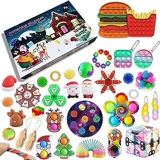 iSayhong Fidget Pack Adventskalender 2021, Kerst Countdown Kalender Fidget Toys Set Pack, Fidget Box Surprise Gifts voor P...