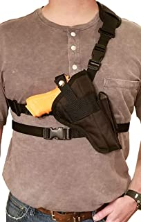 Silverhorse Holsters Chest/Shoulder Gun Holster | Fits Glock 40 MOS and Other Similar Sized Guns with a Mini Optic and 5.5