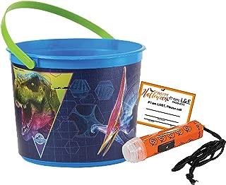 Jurassic World Toddler Sized Halloween Trick or Treat Bucket & Mini Safety Flashlight! Plus