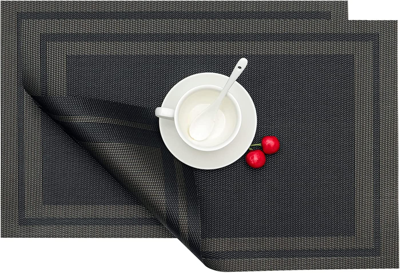 GloryTik Placemats Table Large-scale sale Bombing new work Mats Crossweave Woven Vinyl I Non-Slip