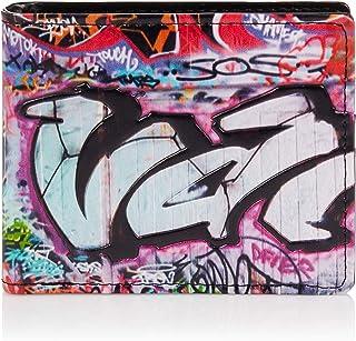 SHAGWEAR ® Portafoglio Uomo Porta Carte di Credito con Portamonete Borsellino Portafogli Banconote : (graffiti colorati/Co...