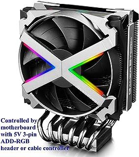 DEEP COOL Fryzen, ARGB Disipador de CPU, un PWM CPU Ventilador de 120mm, con 6 Tubos de Calor y Cubierta Superior RGB, Aplicable a AMD(TR4 y AM4)