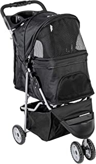 VIVO Three Wheel Pet Stroller, for Cat, Dog and More, Fordable Carrier Strolling Cart,..