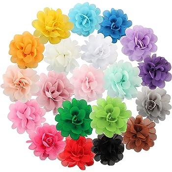 PrettyBoutique Girls Kids Women Chiffon Flower Hair Clip Alligator Clip Party Wedding 7cm, Black