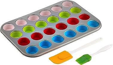 Prestige 24 Cups Mini Muffin Pan, Multi-Colour, W 37.4 x H 23.2 x D 2.8 cm