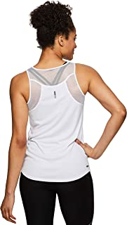 Active Women's Sleeveless Athletic Performance Running Workout Yoga Tank Top with Mesh Ventilation