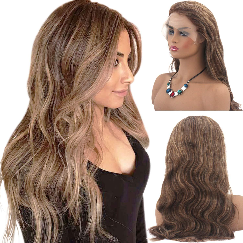 Braune haare mit blonden strähnen frauen