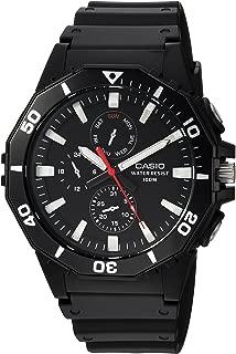 Casio Men's Sports Analog-Quartz Watch with Resin Strap, Black, 21 (Model: MRW-400H-1AVCF)