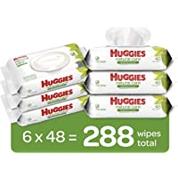 6-Pack Huggies Natural Care Unscented Baby Wipes Disposable Flip-top Packs