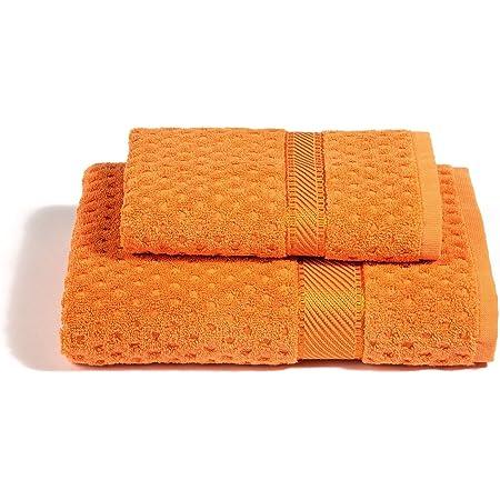 Orange Arancione Set asciugamani ospite 30 cm x 50 cm G/özze