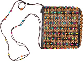 Multicolor Stylish Sling Bag for Women and Girls Latest Om Design Multicolor Beaded Sling Purse - Product Dimensions  : ...