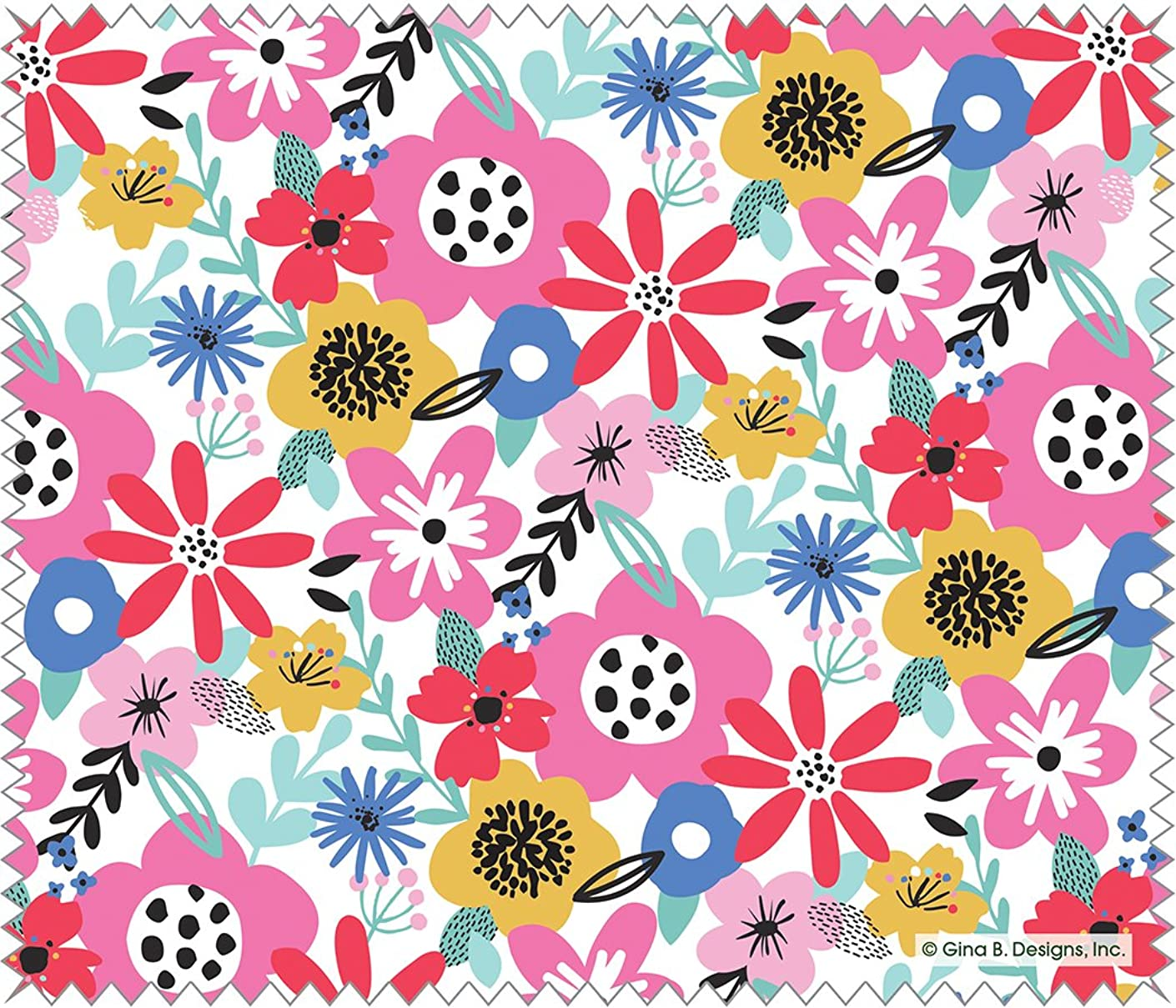 Gina B Microfiber Cleaning Cloth for Lenses - Flower Pop