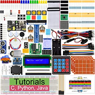 Freenove Ultimate Starter Kit for Raspberry Pi 4 B 3 B+, 434 Pages Detailed Tutorials, Python C Java, 223 Items, 57 Projec...