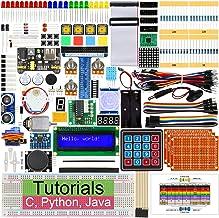 Freenove Conjunto de Inicio definitivo para Raspberry Pi 4 B 3 B +, 434 páginas de tutoriales, Python C Java, 223 Elementos, 57 proyectos,Aprender electrónica y programación, Sin Soldadura Breadboard