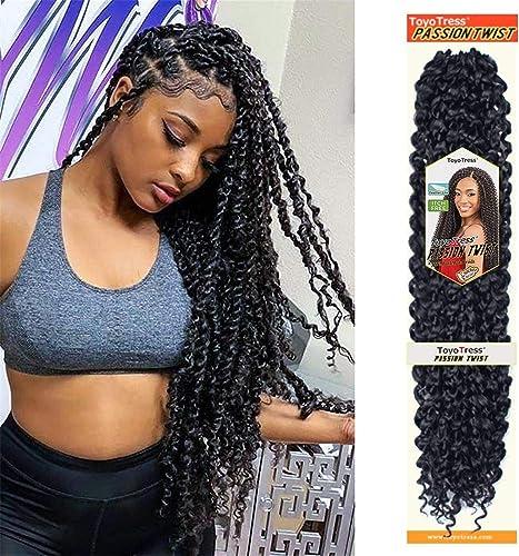 Toyotress Passion Twist Hair Water Wave Crochet Braids for Passion Twist Crochet Hair Passion Twist Braiding Hair Hai...