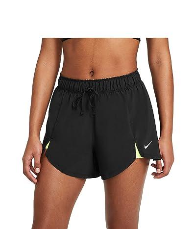 Nike Flex Essential 2-in-1 Shorts (Black/Volt/White) Women