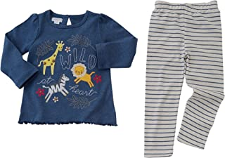 Mud Pie Baby Toddler Girl Wild at Heart Tunic & Legging 1112358