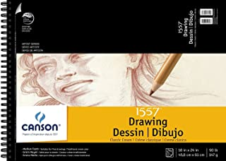 """Canson Artist Series Cream Drawing Pad 18"""" x 24"""", Top Wire Bound, 24 Sheets (100510976)"""