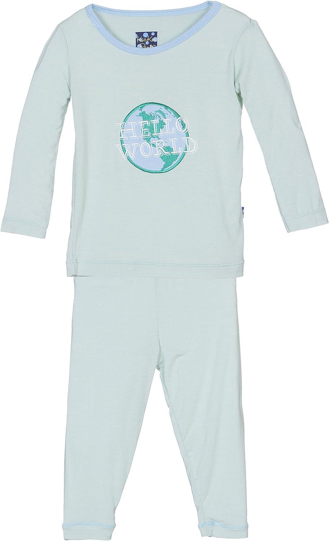 KicKee Pants Baby Long Sleeve Applique Pajama Set