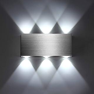 Lightess Apliques de Pared LED Lámpara de Pared Interior Luz Moderna de Aluminio para Dormitorio, Pasillo, Sala de Estar, Entrada, KTV (blanco frío, 6w)