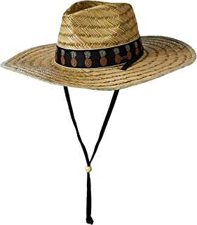 O'NEILL Women's Adjustable Chin Strap Straw Lifeguard Hat
