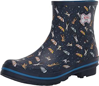 Women's Check-Raining Cats and Dogs Boot