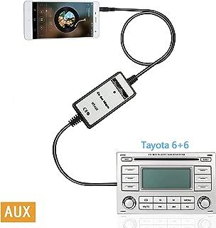 Moonet 3.5mm Audio Input Auxillary Aux Adapter Stereo Radio for 2003-2011 Toyota 4Runner Avalon Camry Celica Corolla Yaris FJ Cruiser Highlander Landcruiser Matrix MR2 Tacoma Tundra Venza Vitz