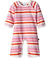 Toobydoo Multi Pink Stripe Bootcut Jumpsuit (Infant)