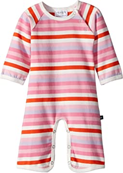 Toobydoo - Multi Pink Stripe Bootcut Jumpsuit (Infant)