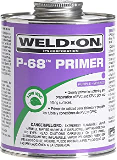 Weldon 10210 Purple P-68 Primer for PVC and CPVC Pipes, Non-Bodied, Fast Acting Primer, Quart Can with Applicator Cap