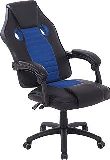 belupai Sillas de oficina Gamer Silla de escritorio Azul