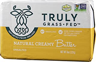 TRULY GRASS FED Natural Irish Butter Unsalted, 8 oz