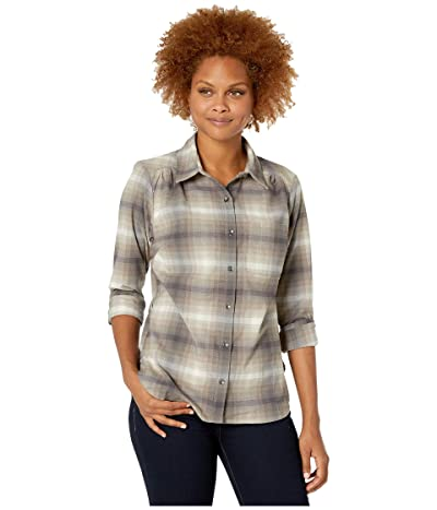 Royal Robbins Merinoluxtm Flannel Long Sleeve (Asphalt) Women