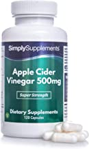 Apple Cider Vinegar Capsules 500mg Vegan Vegetarian Friendly with Added Chromium to Support Metabolism Regulate Blood Sugar 120 Capsules Up to 2 Month Supply Manufactured in The UK Estimated Price : £ 13,79