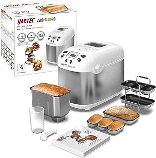 Imetec Zero-Glu PRO Machine à pain et à gâteaux, avec 20 programmes automatiques / 11 sans gluten, 7 accessoires, 3 formes...