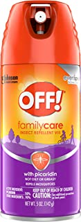 OFF! Family Care Insect & Mosquito Repellent VII, Bug Spray with Picaridin, Not Oily or Greasy, 5 oz.