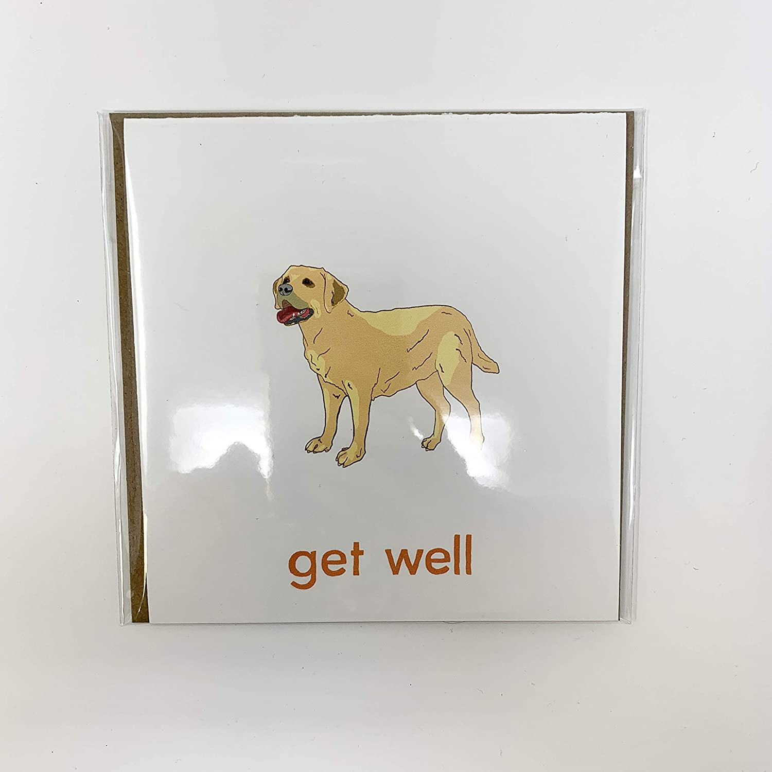 Yellow Labrador Retriever Get Card Well Greeting 2021 new Max 79% OFF